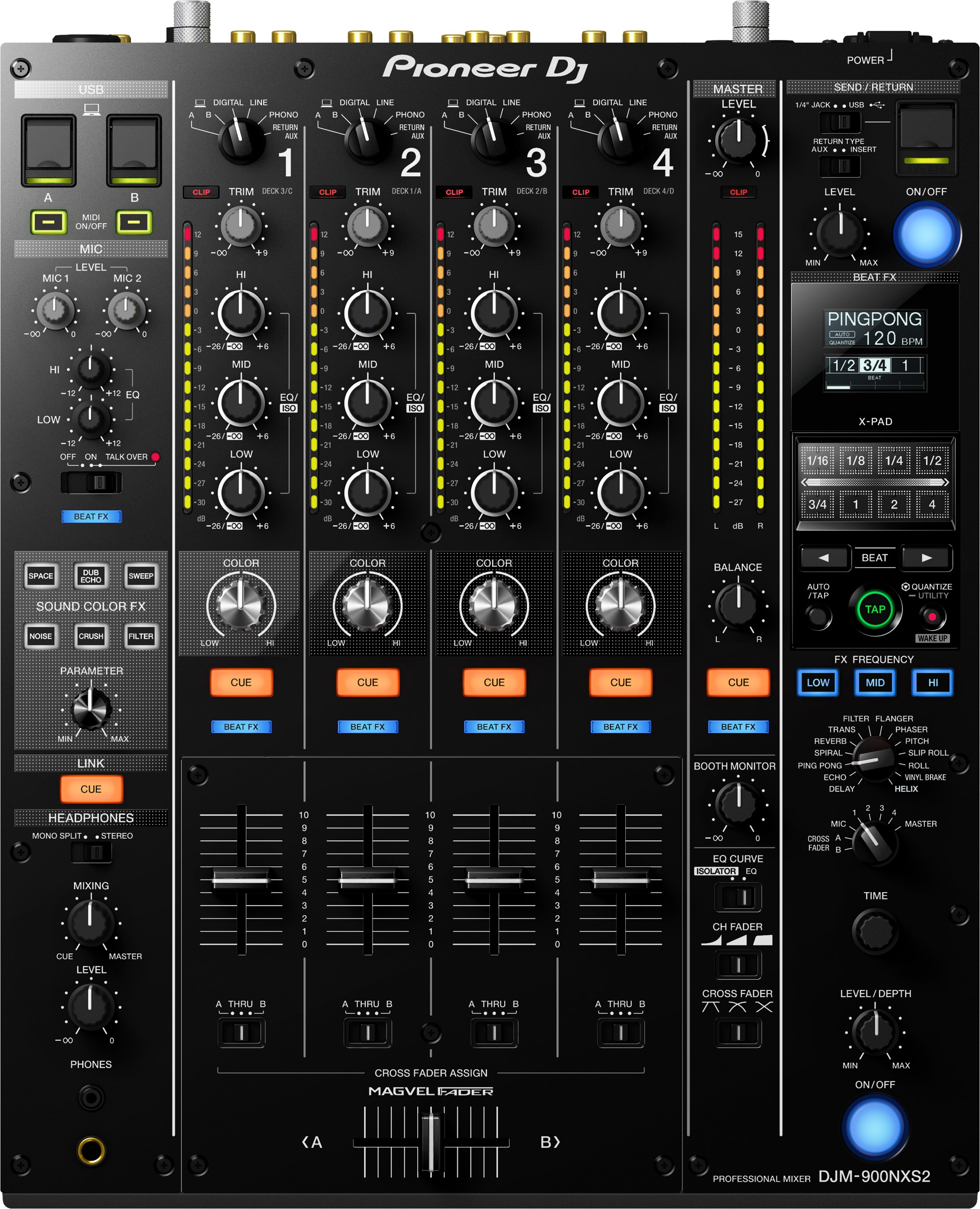 PioneerDJ DJM-900NXS2 DJミキサー