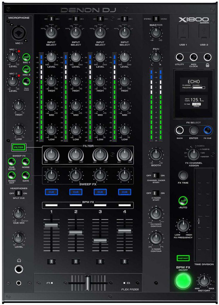 DENON DJ X1800 Prime [DJミキサー]